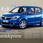 Dacia Sandero Facelift full view