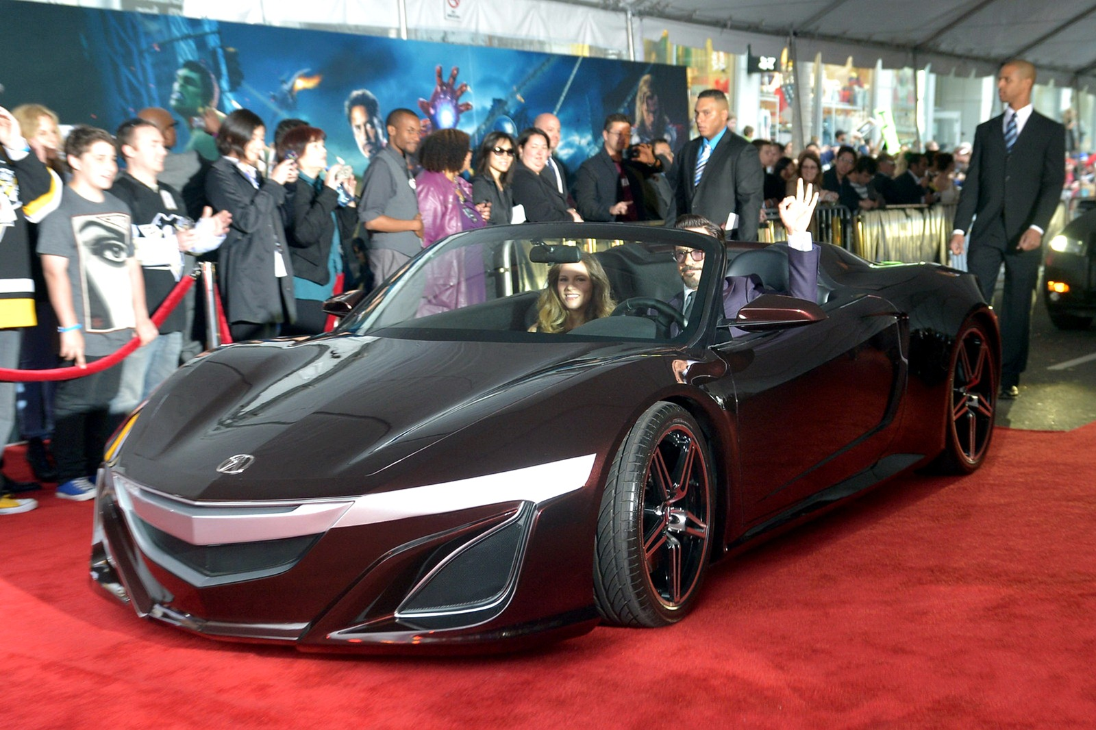 Acura NSX Roadster is seen on red carpet | Motor Exclusive