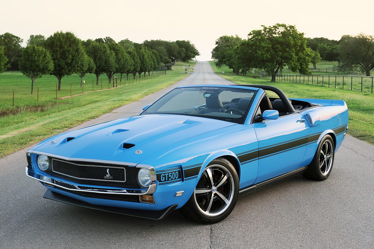 Retro 1969 Ford Mustang Shelby GT500