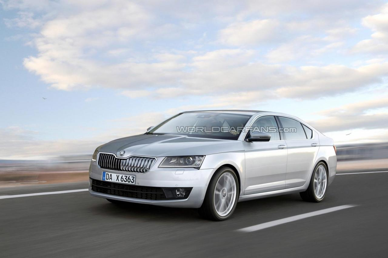 Skoda Superb Render