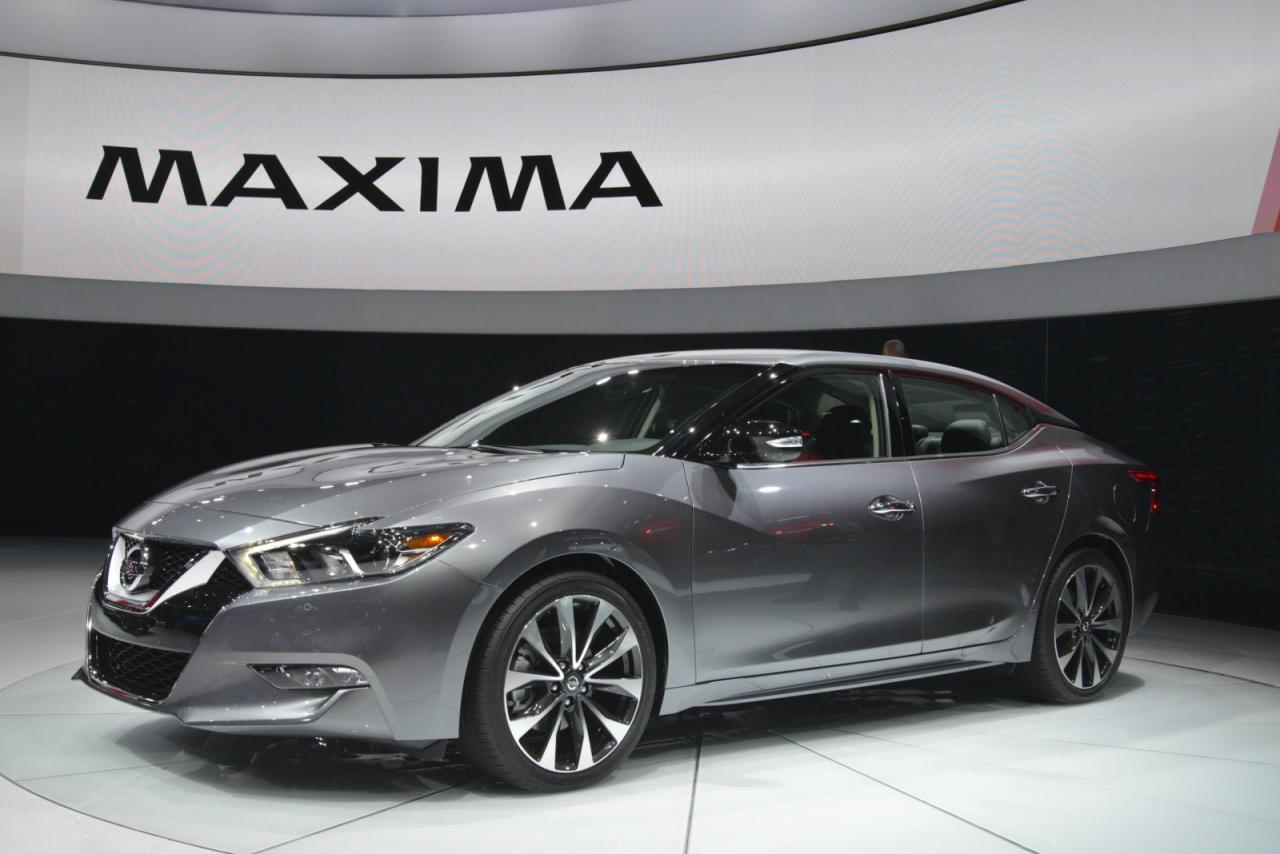 2016 nissan maxima unveiled motor exclusive. Black Bedroom Furniture Sets. Home Design Ideas