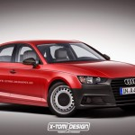 Entry-level Audi A4 (B9) rendering