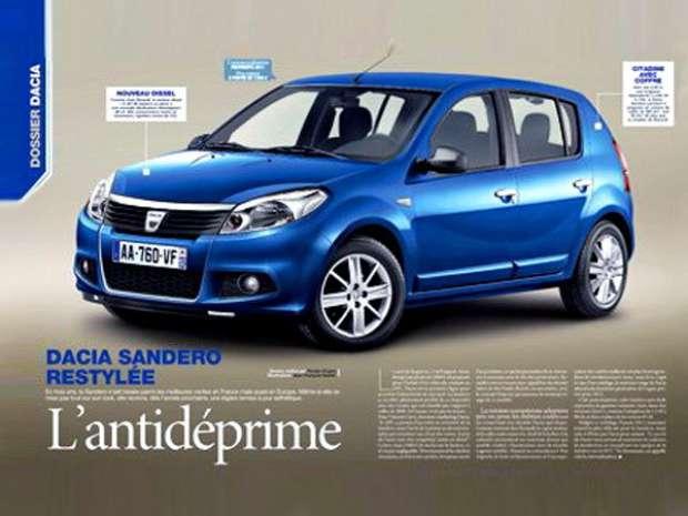 Dacia Sandero Facelift full view