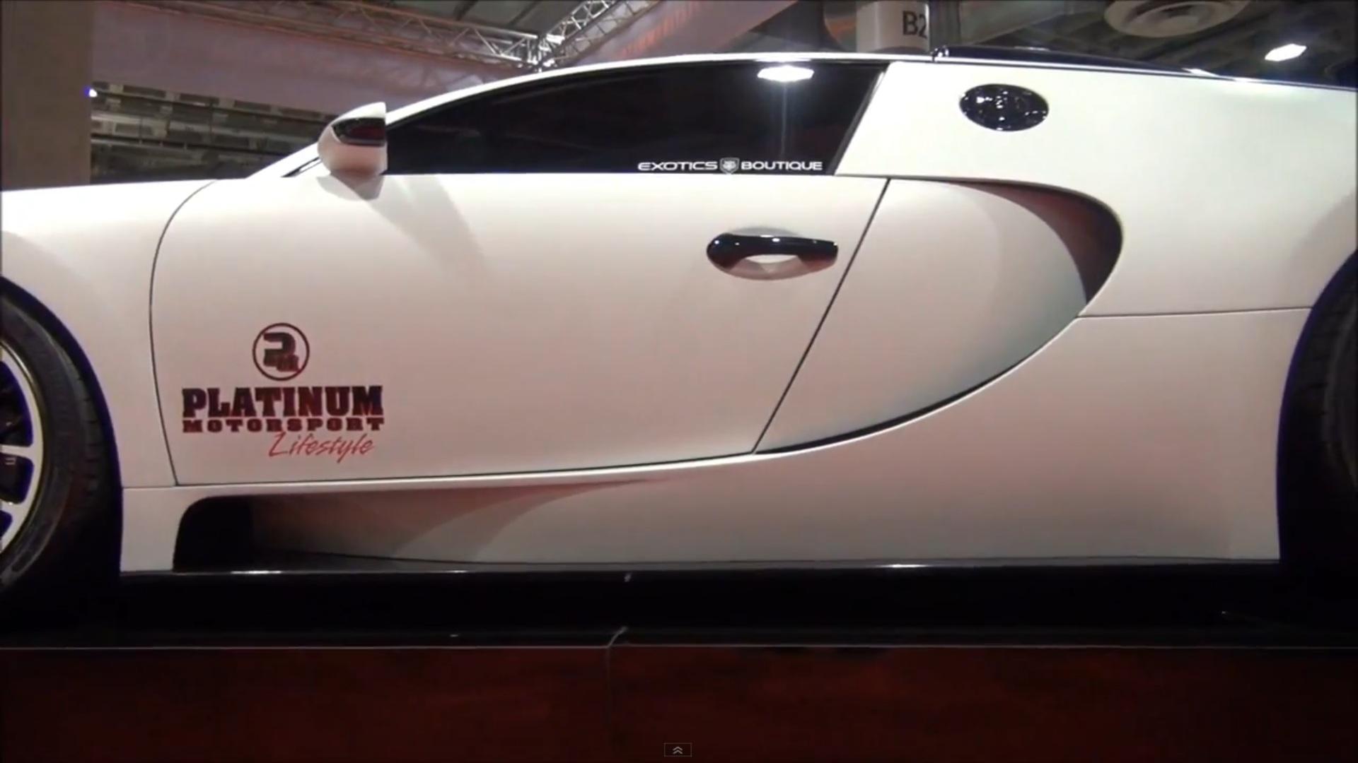 Matte White Bugatti Veyron