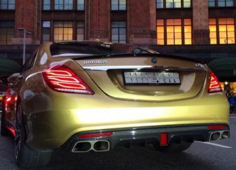 Gold Mercedes S63 AMG by Brabus